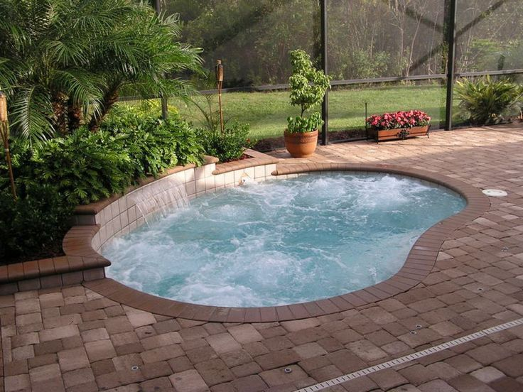 inground small pools designs with hot tubs prices semi indoor fiberglass cost