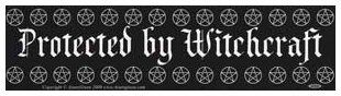 Bumper Sticker - Protected by Witchcraft | The Magickal Cat Online Pagan/Wiccan Shop