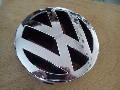VOLKSWAGEN ROUND EMBLEM CAR BADGE LOGO GRILL FIT CHROME BLACK VOLKSWAGEN 13CM VW