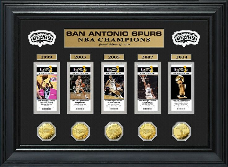 AAA Sports Memorabilia LLC - San Antonio Spurs 5 Time Champions Deluxe Gold Game Coin and Ticket Collection, #sanantoniospurs #spurs #nba #nbafinals #nbacollectibles #sportscollectibles #sportsmemorabilia $199.99 (http://www.aaasportsmemorabilia.com/nba/san-antonio-spurs-5-time-champions-deluxe-gold-game-coin-and-ticket-collection/)