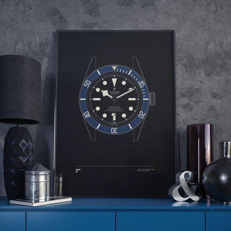 Nine37 : Poster Tudor Black Bay Blue