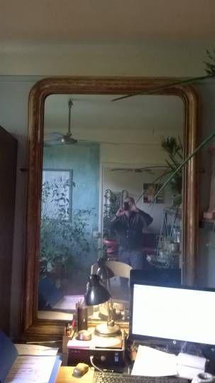 Les 25 meilleures id es de la cat gorie miroirs d 39 or en for Miroir ancien louis philippe