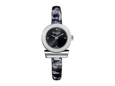 Salvatore Ferragamo - Gancino Bracelet FII010015 (Stainless Steel/Black) Watches