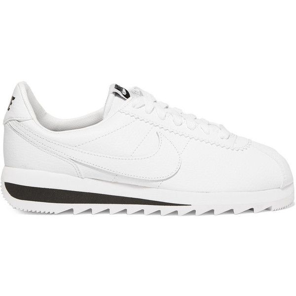Nike Nike - Cortez Epic Premium Textured-leather Sneakers - White (€53) ❤ liked on Polyvore featuring shoes, sneakers, white, nike footwear, nike, nike shoes, nike sneakers and white sneakers