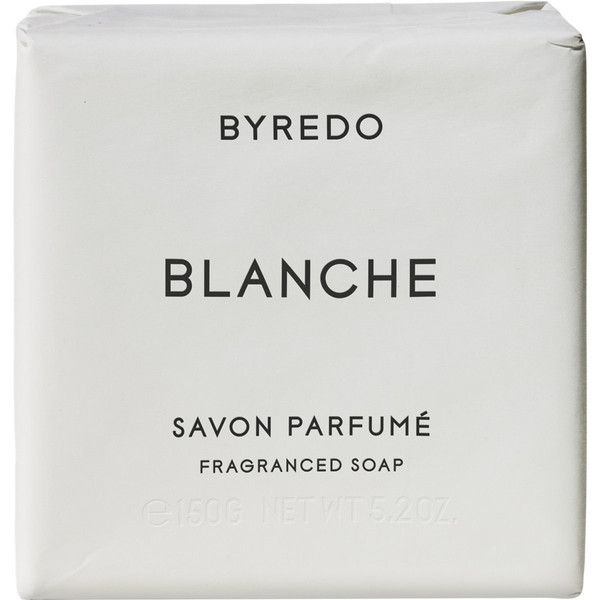 Byredo Blanche Soap Bar 150g ($30) ❤ liked on Polyvore featuring beauty products, bath & body products, body cleansers, fillers, colorless, body cleanser, bath & body and byredo