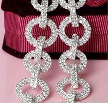 Free Shipping 5 yards Crystal Rhinestone Trim, Rhinestone Applique, Bridal Applique,Wedding Applique,Rhinestone Chain TONG014(China (Mainland))