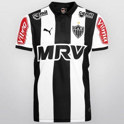 Camisa Puma Atlético Mineiro I 2015 s/nº - Preto+Branco
