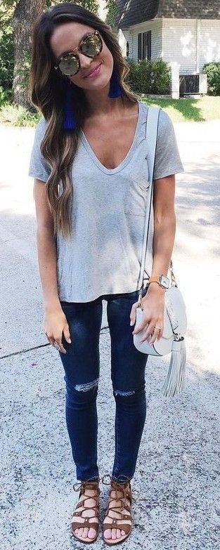 #summer #lovely #fashion | Grey + Denim