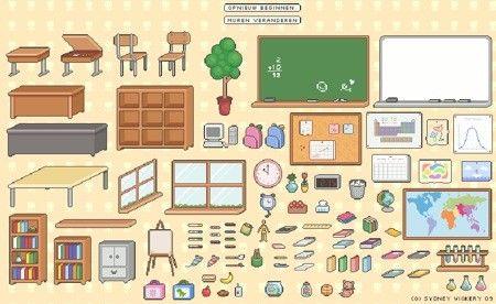 materialen die nodig zijn in een klaslokaal
