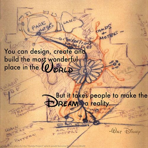 You can design, create and build the most wonderful place in the world,