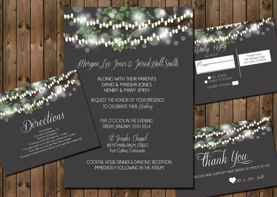 Wedding Invitation Package with Flowers and Jars by RockStarPress