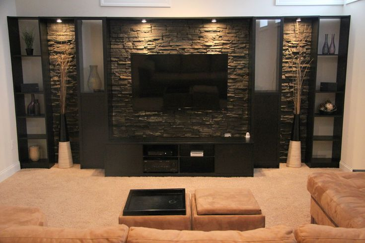 Impressive-Billy-Bookcase-decorating-ideas-for-Basement-Contemporary-design-ideas-with-Impressive-Basement-Entertainment-Center.jpg (990×660)