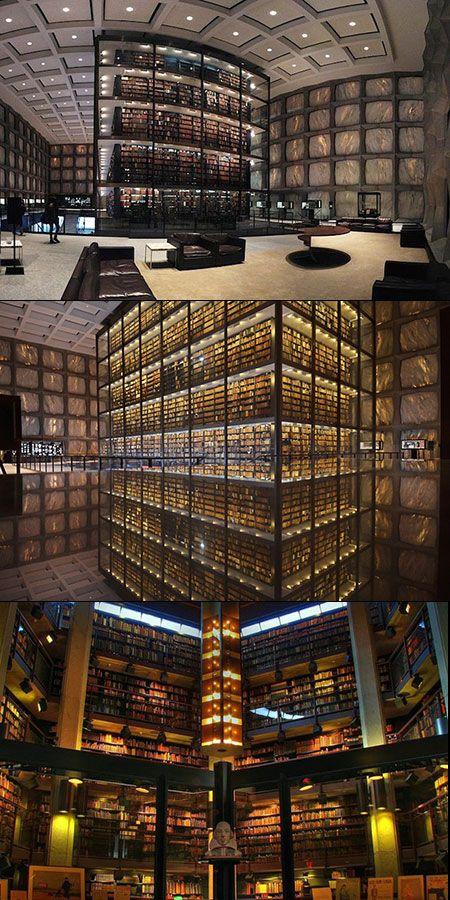 La Biblioteca Beinecke de Manuscritos y Libros Raros, Universidad de Yale.