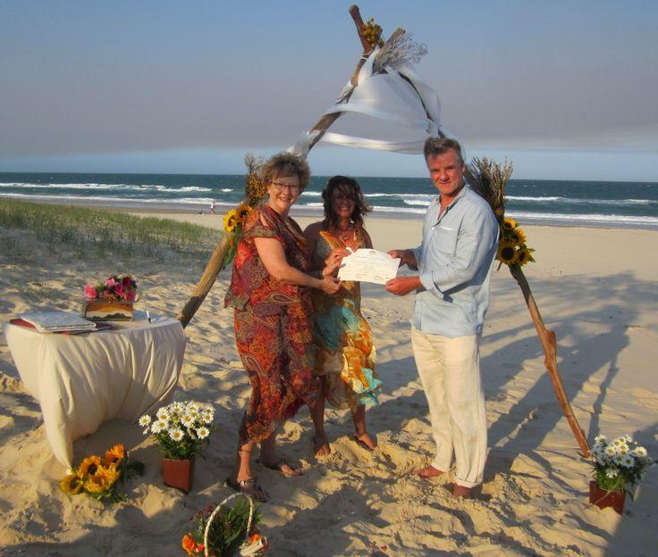 Ishtarlia and Shane married on glorious Rainbow Beach on a very windy day.