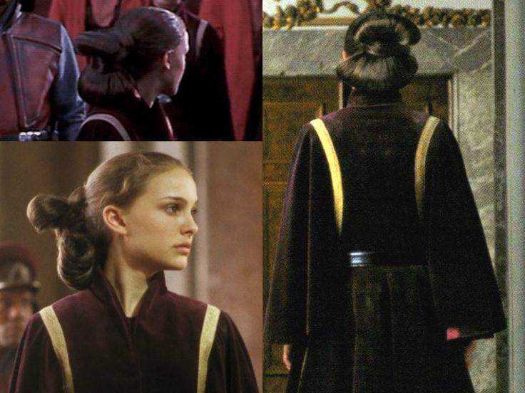 party hairstyles for medium length hair : Padmes battle hairstyle from The Phantom Menace. Tutorial link: http ...