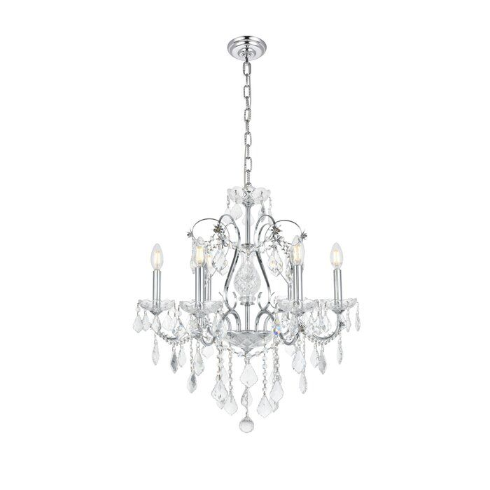 Diogo 6 Light Candle Style Classic Traditional Chandelier With Crystal Accents Traditional Chandelier Candle Styling Candle Style Chandelier