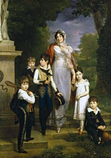 Portrait de la maréchale Lannes et ses enfants  1818  François Pascal Simon Gérard