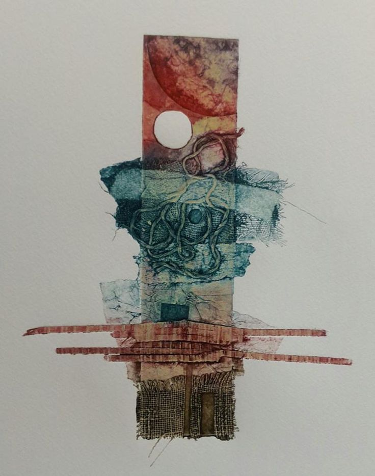 Totem.  Hand Inked Collagraph Print by Sarah Ross-Thompson. Sold on Etsy £65 UF