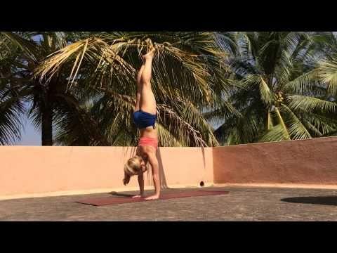 straight leg handstand press with kino yoga  yoga