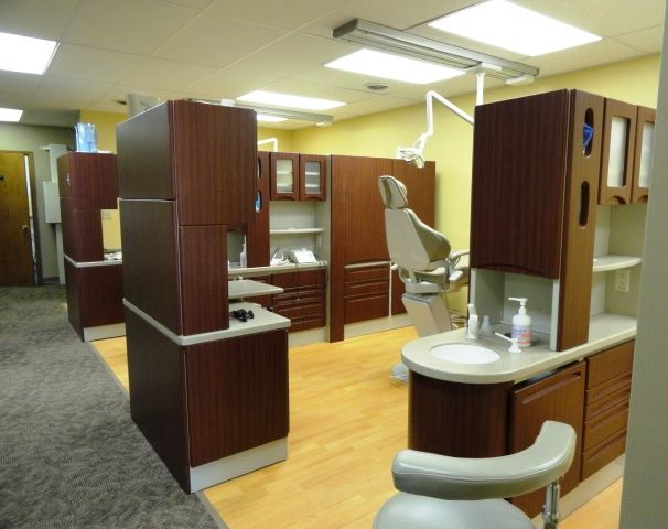 Dental Office Commercial Vinyl Flooring New Casework Tore Out Walls Demolition And Remodel