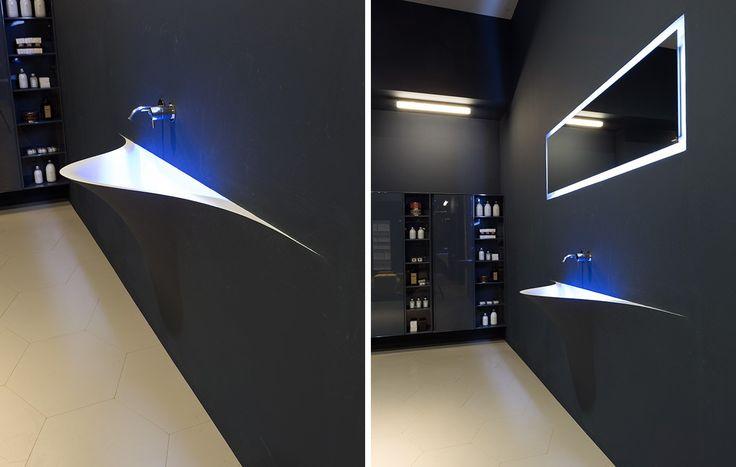 Lavabo in Corian® SILENZIO by Antonio Lupi Design® design Domenico De Palo