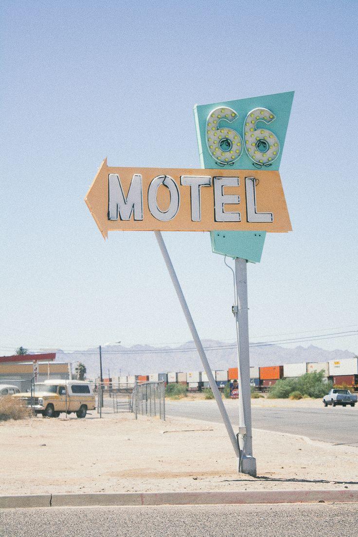 Cool motel sign in San Bernardino, California #route66