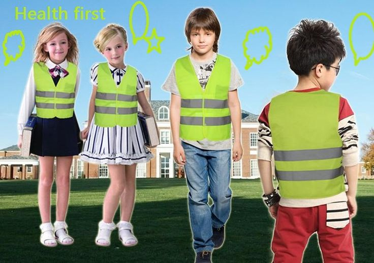 2016 New Style safety traffic pupil reflective vest/ children reflective vests/ reflective safety clothing customized printable
