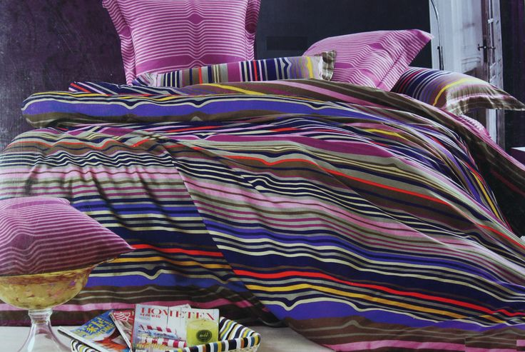 Add a splash of color to your bedroom with this beautifully designed King Size (275*275cm) Bed Linen Set. The bright vibrant color and beautiful multi-colored stripes  give your bedroom a fresh look.. It promises to blend perfectly well with all interiors of your room. The color fastness and skin friendly feature make this bed linen set even more special.