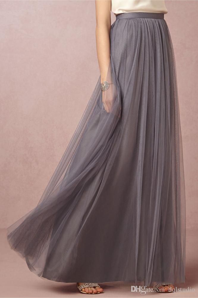Gray Skirts Tulle Long Women Clothing High Quality Soft Tulle with Lining Fancy Summer Style Long Skirts Royal Blue,Champagne Skirts Tulle Skirts Long Skirts Online with $49.0/Piece on Dqlstudio's Store | DHgate.com
