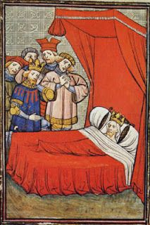 MS image of Philip IV of France in bed c1314