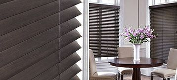 Parkland® Textures Parkland® Textures Wood Blinds feature a new wood species, abachi, which has a unique ticking look for subtle texture and a matte finish for a modern take on wood blinds. Incorporating natural textures is the perfect way to add contrast within the home.