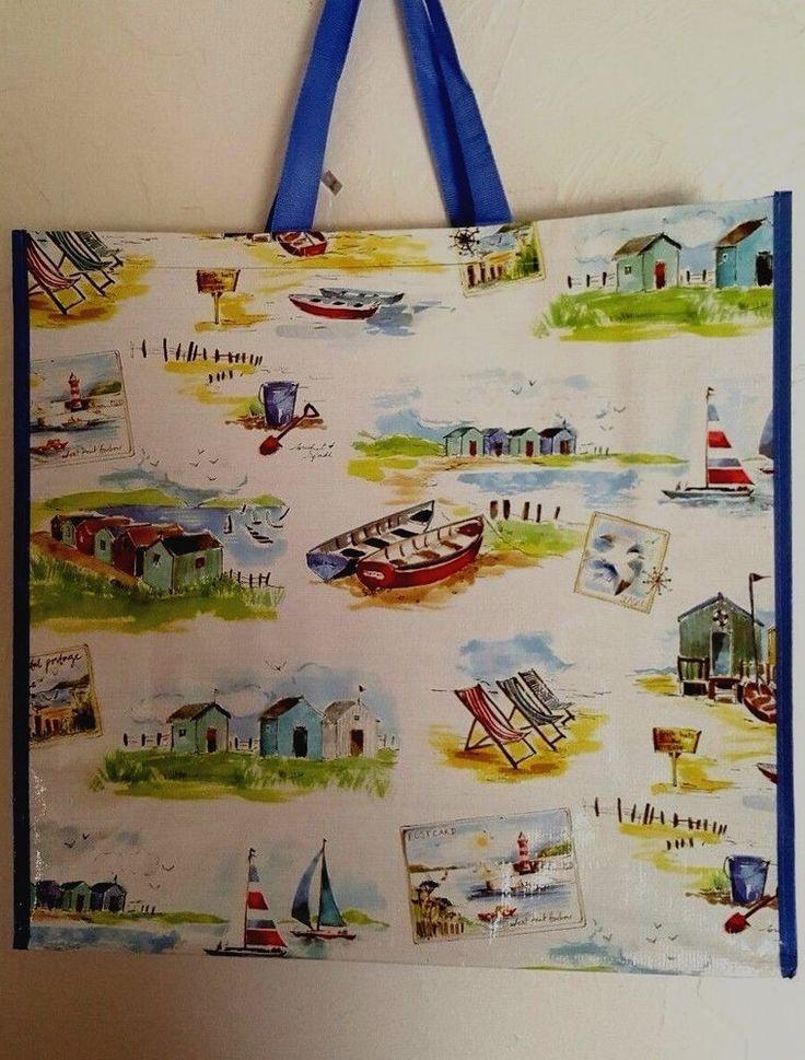 Beach Vacation Shopping Tote Bag Jumbo New Coastal Harbor | Clothing, Shoes & Accessories, Women's Handbags & Bags, Travel & Shopping Bags | eBay!
