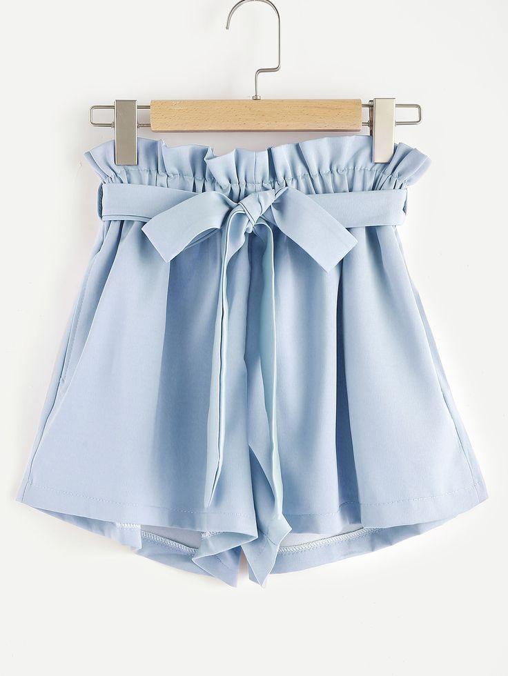 Shop Frill Waist Self Tie Shorts online. SheIn offers Frill Waist Self Tie Shorts & more to fit your fashionable needs.