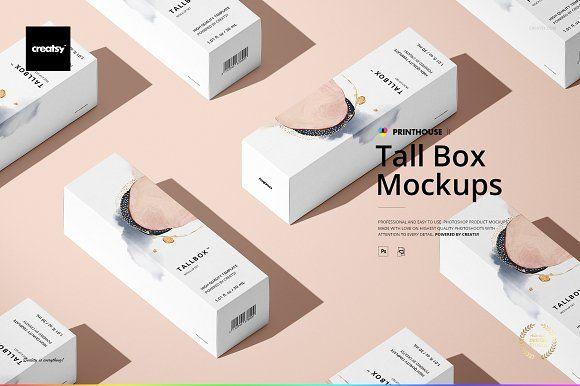 Download Tall Box Mockup Set Box Mockup Packaging Mockup Mockup