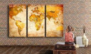 Groupon - Mapa lienzo a elegir entre 50 diseños desde 24,90 € en [missing {{location}} value]. Precio de la oferta Groupon: 24,90€