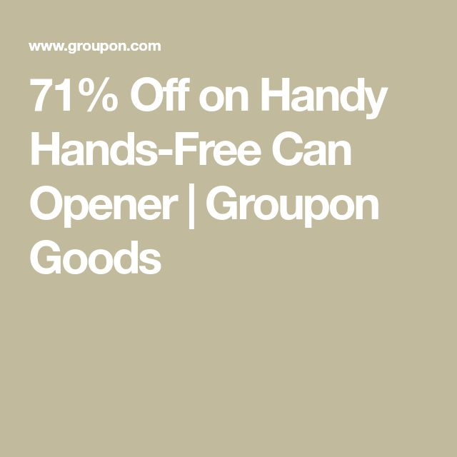 71% Off on Handy Hands-Free Can Opener   Groupon Goods