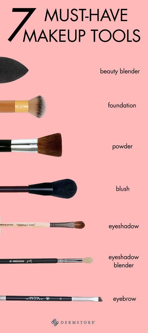 Die einzigen 7 Makeup-Tools, die Sie jemals in Ihrem Beauty-Arsenal benötigen. Vermisst irgendein