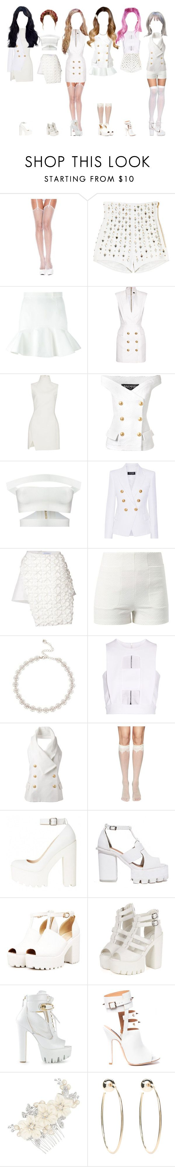 """""""— pink20 sugar or spice music video , group scene"""" by frealbird ❤ liked on Polyvore featuring ToBeInStyle, Balmain, Dsquared2, Thierry Mugler, J.W. Anderson, Lost Society, Lipsy, Cushnie Et Ochs, Versus and Alejandra G"""