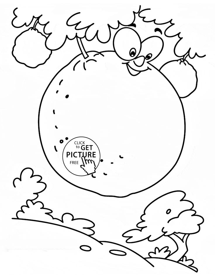 Oranges On The Tree Fruit Coloring Page For Kids Fruits Pages Printables Free