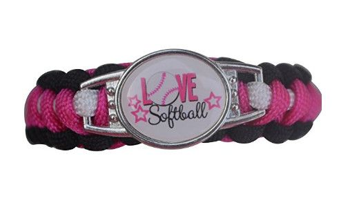 This Sportybella Girls Softball Paracord Jewelry Braceletis a beautiful and fun way to express yourlove of Softball. This makes a Perfect gift for Softball Teams, Softball Players & Softball Coaches. Details of Bracelet: Softball Team Colors: Pink & Black Size: Softball bracelets are adjustable, 5-8 Inches Adjustable Length Material: Branded premium paracord survival bracelet with …
