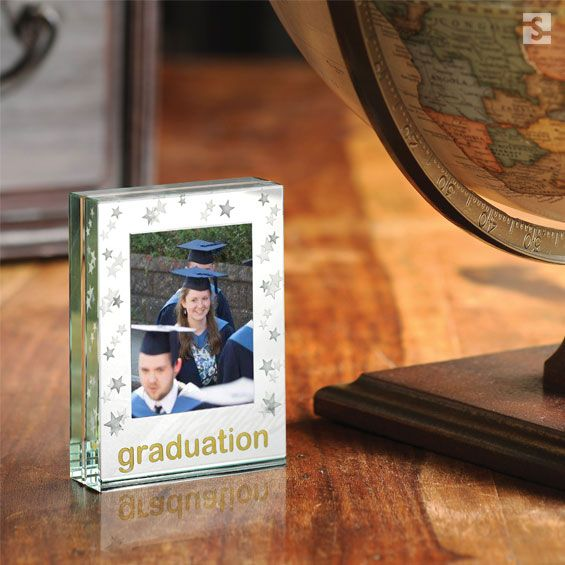 Gifts for Graduation, glass mirrored frame by Spaceform, London UK.