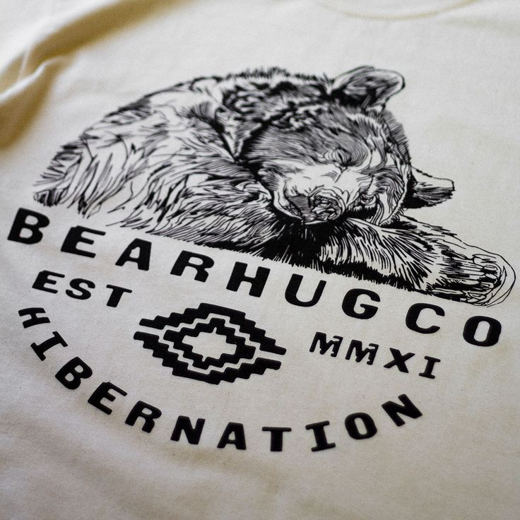 Sleeping Bear Natural T-shirt - Original artwork by Luke Dixon