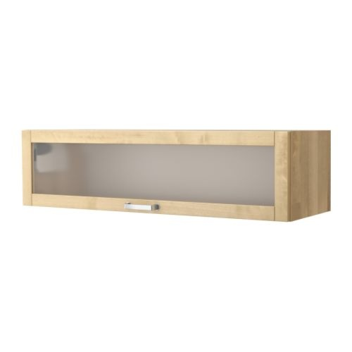vrde glass door wall cabinet birch 14900 - Kitchen Wall Cabinets With Glass Doors