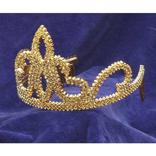 tiara plastic w combs gold accessory forum novelties inchttp wholesale halloween - Halloween Novelties Wholesale