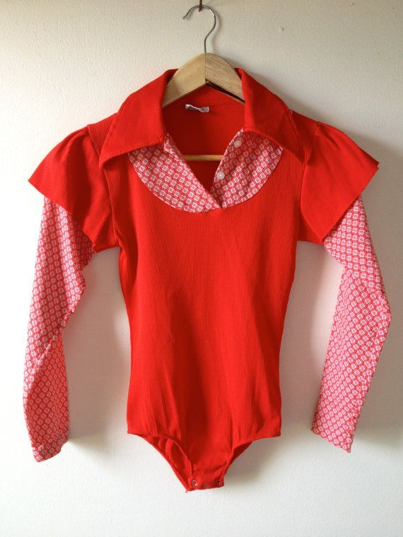 1970s bodysuit. Why did our Moms think these were cute for us? Going to the bathroom was a nightmare!