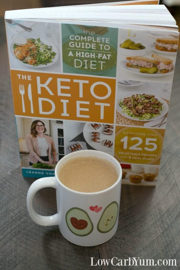 Leanne Vogel's book, The Keto Diet, is your complete guide to a low carb high fat diet. It includes tips for success along with easy recipes and meal plans. | LowCarbYum.com via @lowcarbyum
