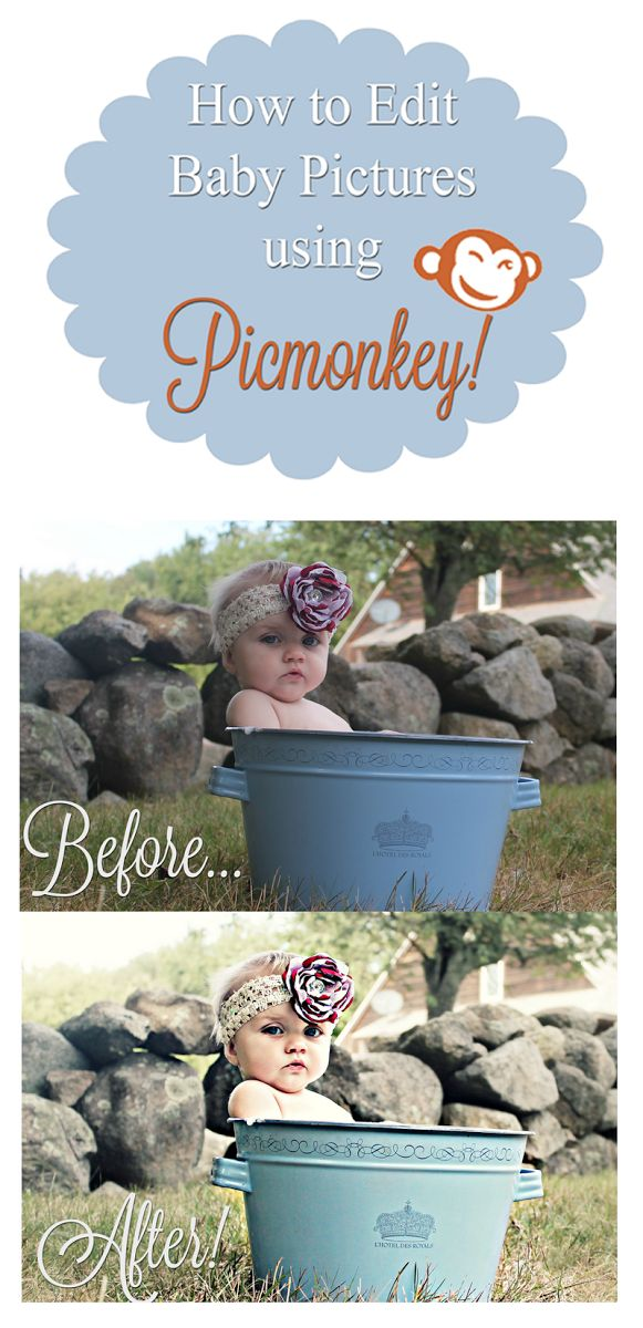 We Lived Happily Ever After: How to Edit Baby Pictures Like a Pro Using Picmonkey