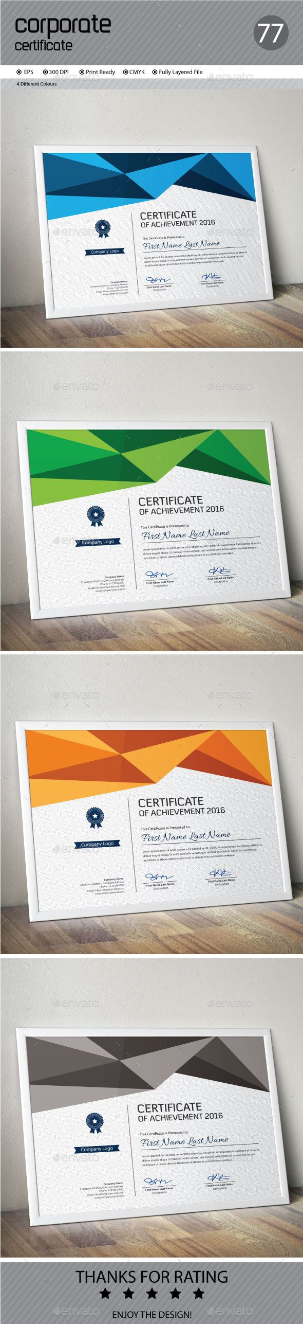 Best 100 certificate templates designs images on pinterest certificate yelopaper Images