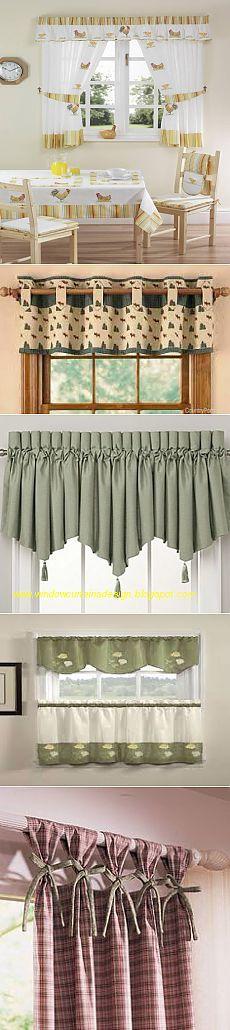 cortinas de la cocina. Ideas