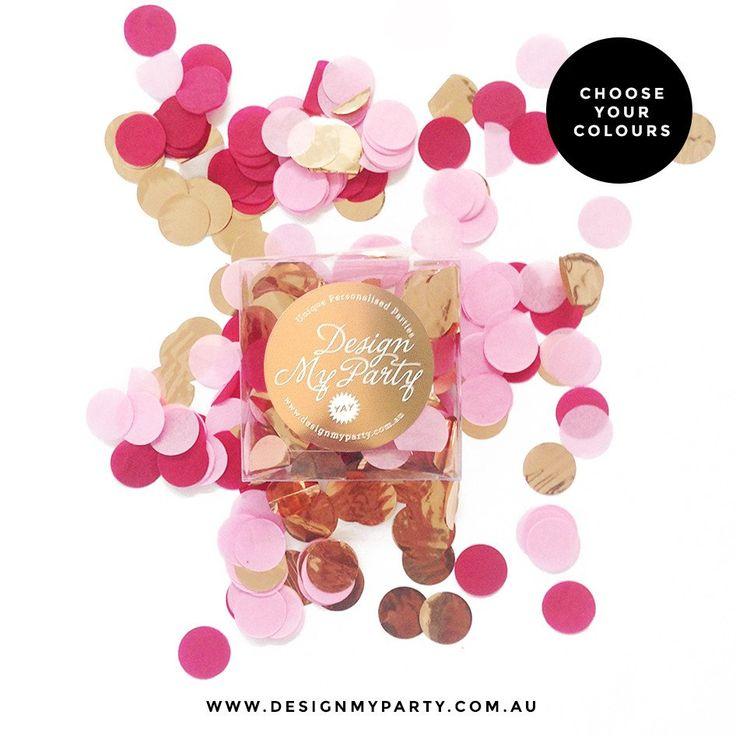 Passion Pop Glam Confetti - Raspberry, Mulberry, Rose Gold Copper